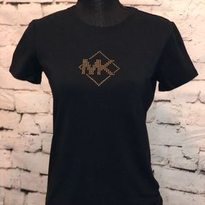 Black & Gold studded MK T-shirt